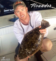 Capt. Elliott with a Flounder
