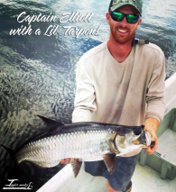 Captain Elliott Taylor with a Mini-Tarpon